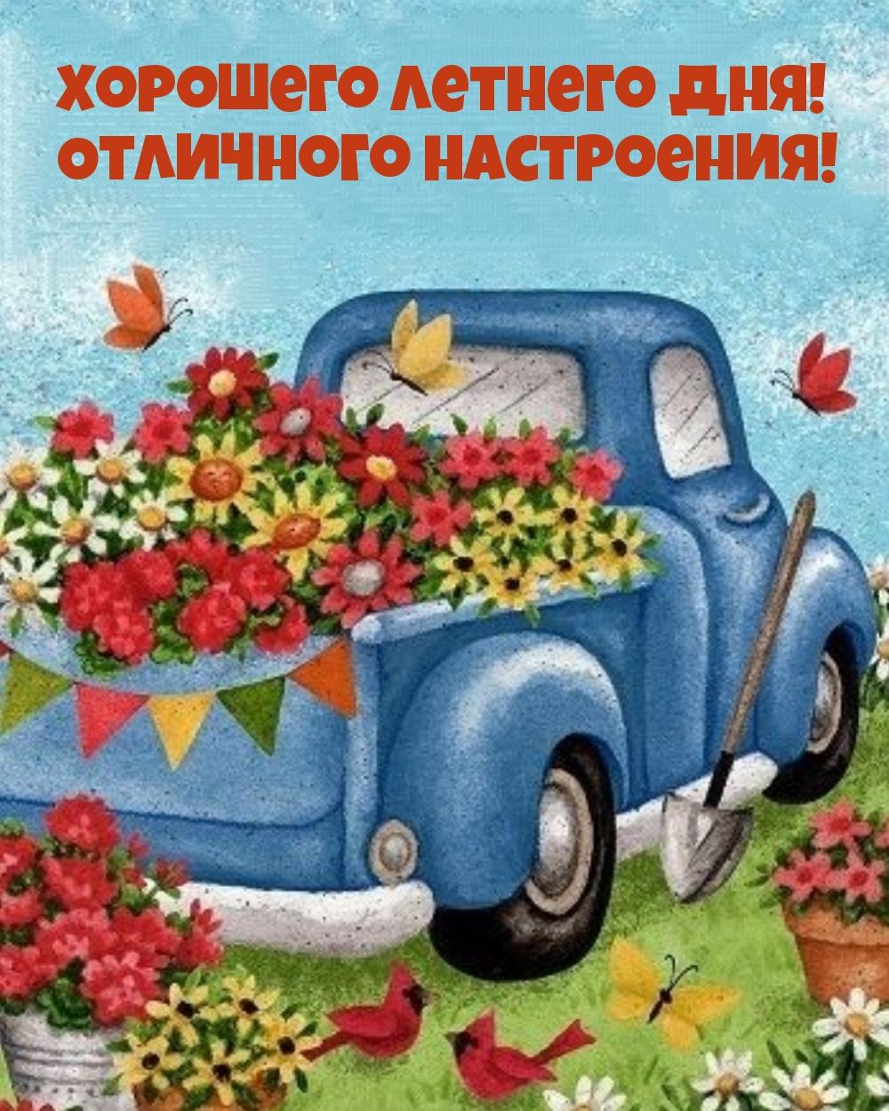 Хорошего летнего дня! Отличного настроения!
